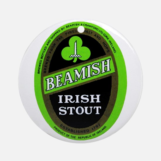Ireland Beer Label 3 Ornament (Round)