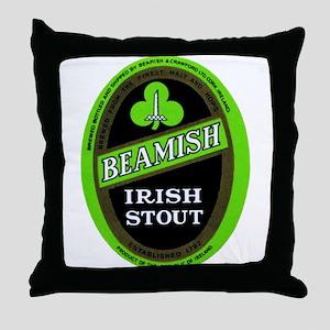 Ireland Beer Label 3 Throw Pillow