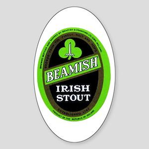 Ireland Beer Label 3 Sticker (Oval)
