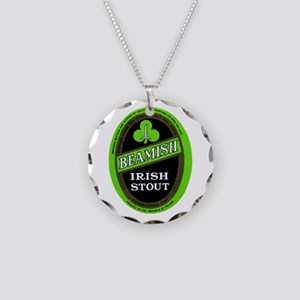 Ireland Beer Label 3 Necklace Circle Charm