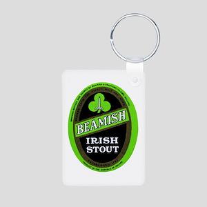 Ireland Beer Label 3 Aluminum Photo Keychain