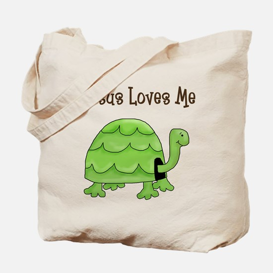 Jesus loves me - Turtle Tote Bag