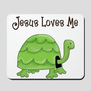 Jesus loves me - Turtle Mousepad