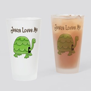 Jesus loves me - Turtle Drinking Glass