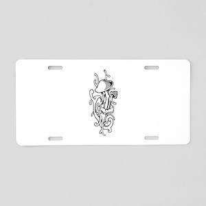 Mushroom Aluminum License Plate