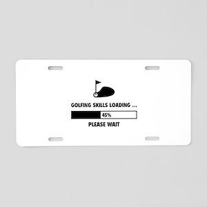 Golfing Skills Loading Aluminum License Plate