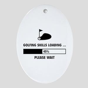 Golfing Skills Loading Ornament (Oval)