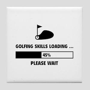 Golfing Skills Loading Tile Coaster