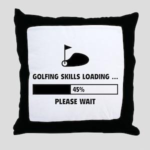 Golfing Skills Loading Throw Pillow