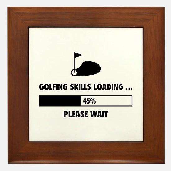 Golfing Skills Loading Framed Tile