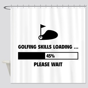Golfing Skills Loading Shower Curtain