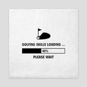 Golfing Skills Loading Queen Duvet