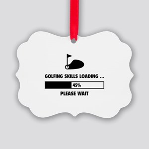 Golfing Skills Loading Picture Ornament