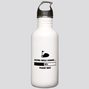 Golfing Skills Loading Stainless Water Bottle 1.0L