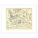Map of Raine Benaress world Small Poster