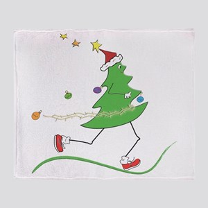 Christmas Tree Runner Throw Blanket