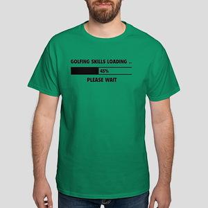 Golfing Skills Loading Dark T-Shirt