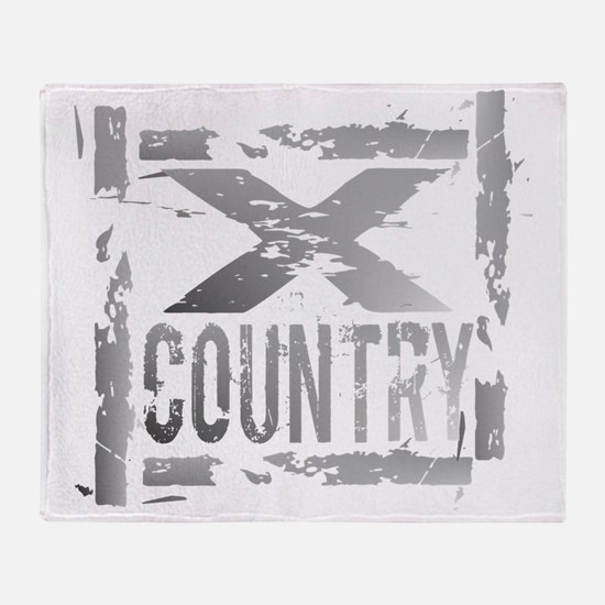 Cross Country Grunge Throw Blanket