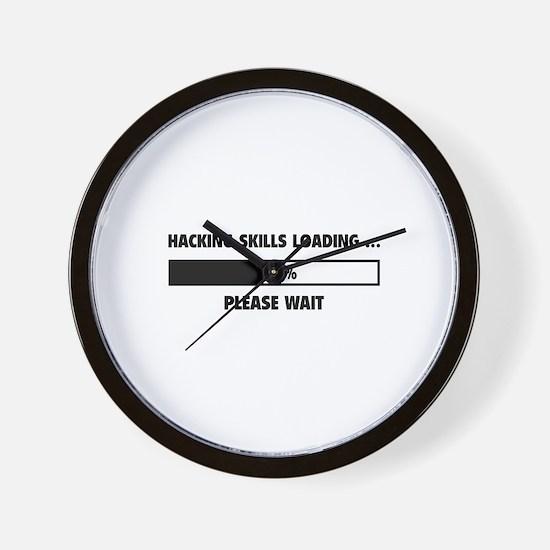 Hacking Skills Loading Wall Clock