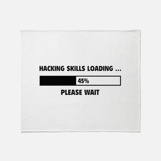 Hacking Skills Loading Throw Blanket