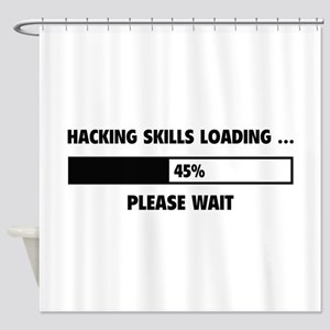 Hacking Skills Loading Shower Curtain