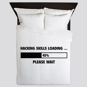 Hacking Skills Loading Queen Duvet