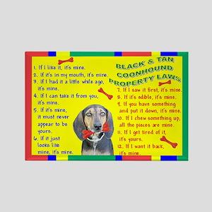 3-Property Laws -BlackTanCoonhound Magnets
