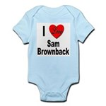 I Love Sam Brownback Infant Creeper