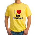 I Love Sam Brownback Yellow T-Shirt