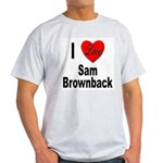 I Love Sam Brownback (Front) Ash Grey T-Shirt