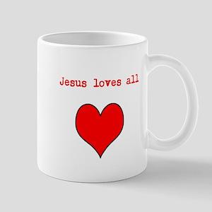 Jesus loves all Mug