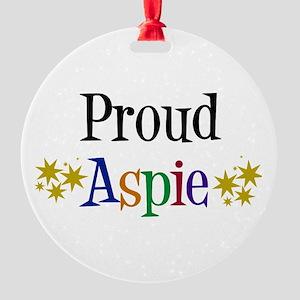 Proud Aspie Round Ornament