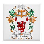 MacCartron Coat of Arms Tile Coaster