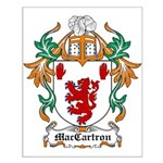 MacCartron Coat of Arms Small Poster
