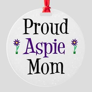 Proud Aspie Mom Round Ornament
