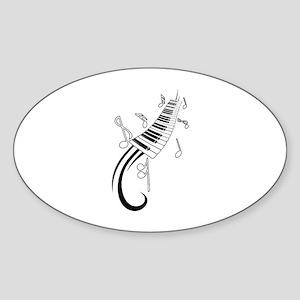 Piano Sticker (Oval)
