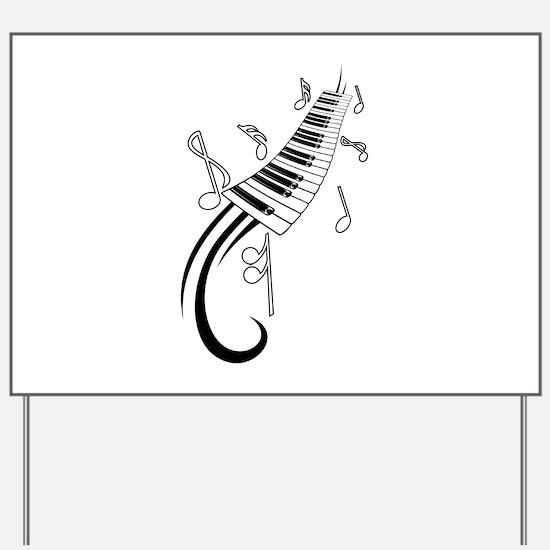 Piano Yard Sign