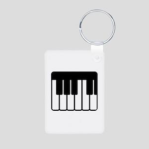 Piano Aluminum Photo Keychain