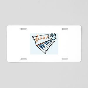 Piano Aluminum License Plate