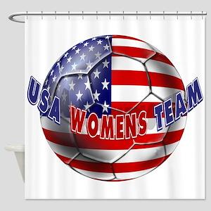 US Womens Soccer Shower Curtain