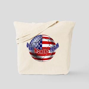US Womens Soccer Tote Bag