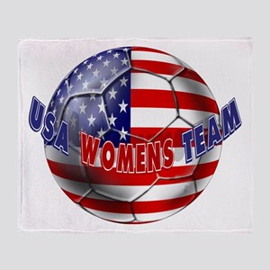 US Womens Soccer Throw Blanket