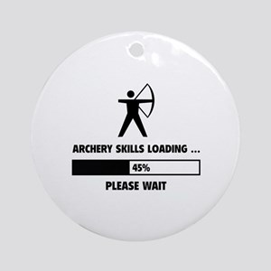 Archery Skills Loading Ornament (Round)