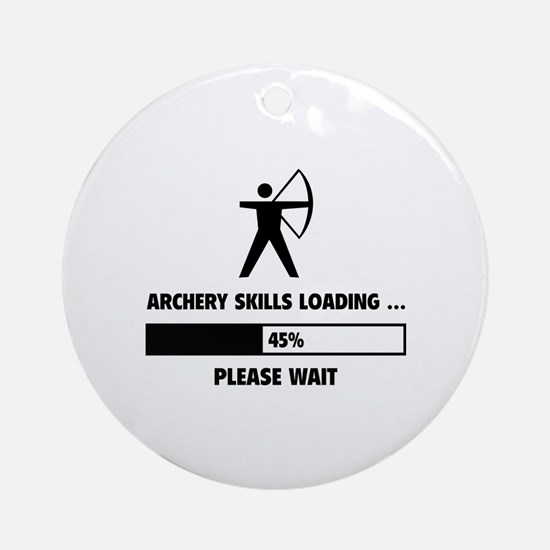 Archery Skills Loading Ornament (Round)