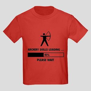 Archery Skills Loading Kids Dark T-Shirt