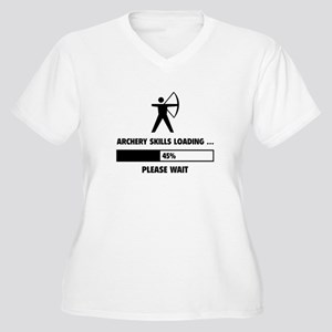 Archery Skills Loading Women's Plus Size V-Neck T-