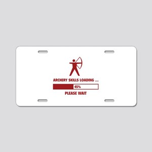 Archery Skills Loading Aluminum License Plate