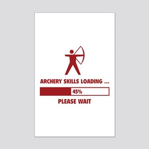 Archery Skills Loading Mini Poster Print