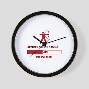 Archery Skills Loading Wall Clock