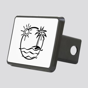 Palm Tree Rectangular Hitch Cover